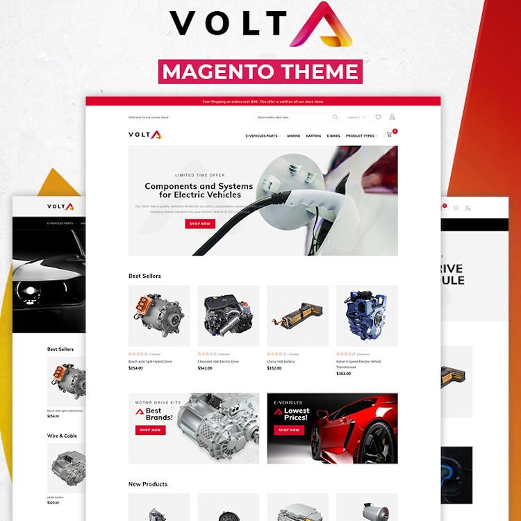 Volta - Electric Vehicles Parts Magento Theme