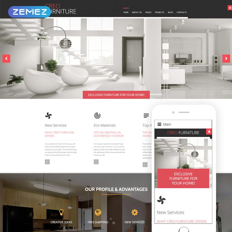 CreoFurniture - Responsive Furniture Joomla Website