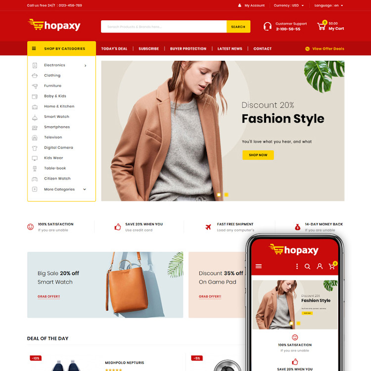 Shopaxy - Multipurpose Store PrestaShop Theme
