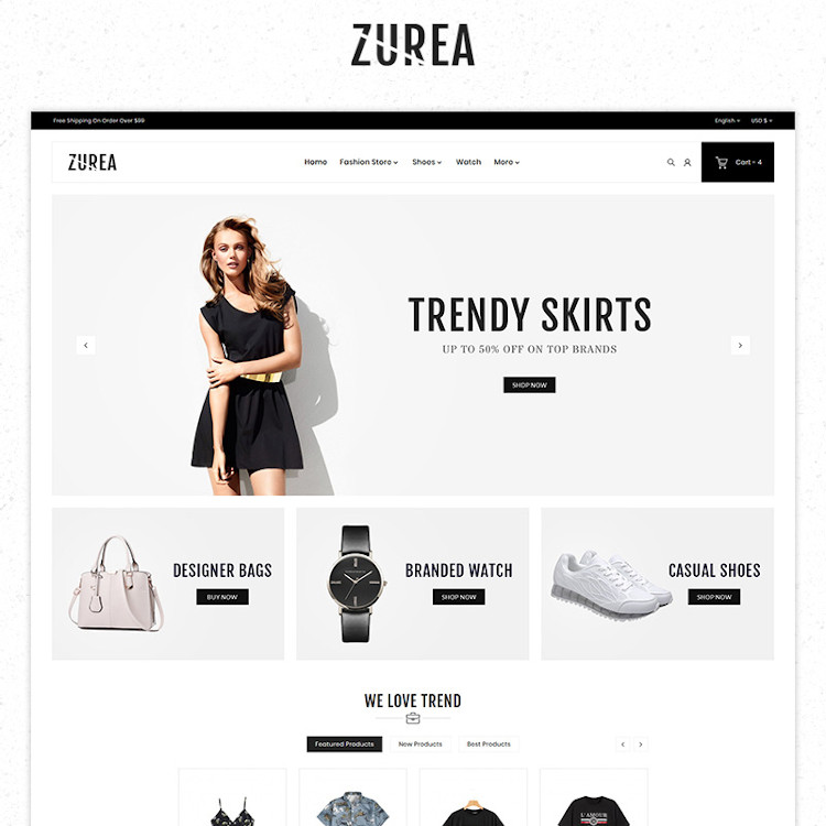 Zurea Fashion Store Premium PrestaShop Theme