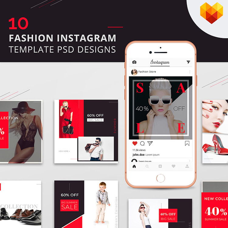 Fashion Instagram templates and designs