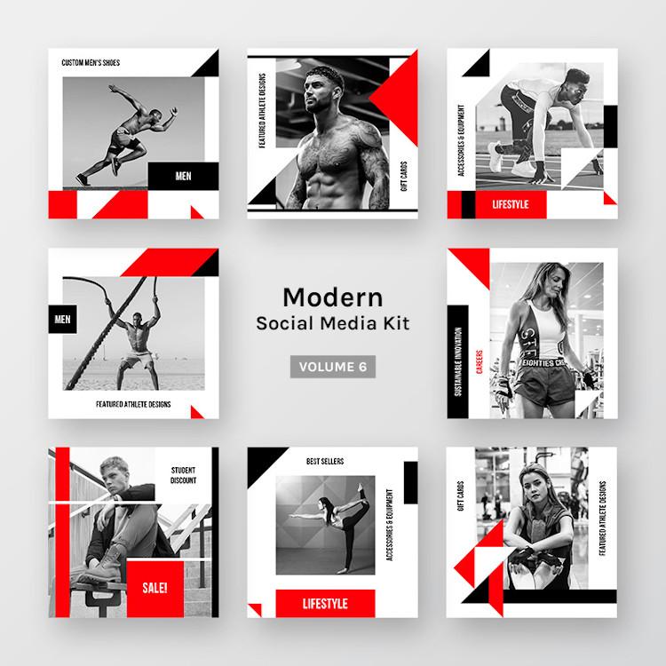 Modern social media kit