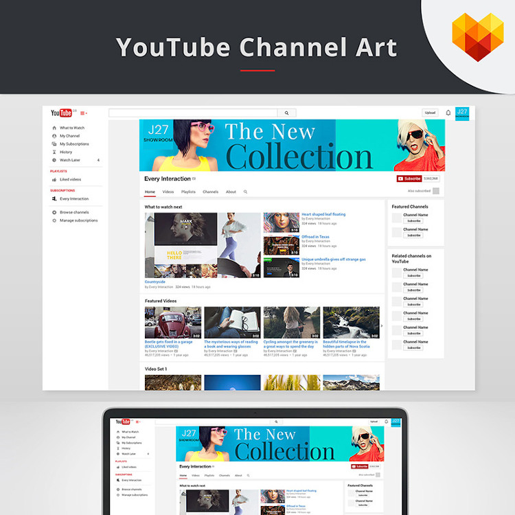 YouTube cover and channel art templates