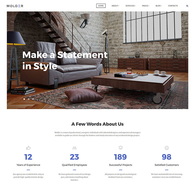 Molder Website Template