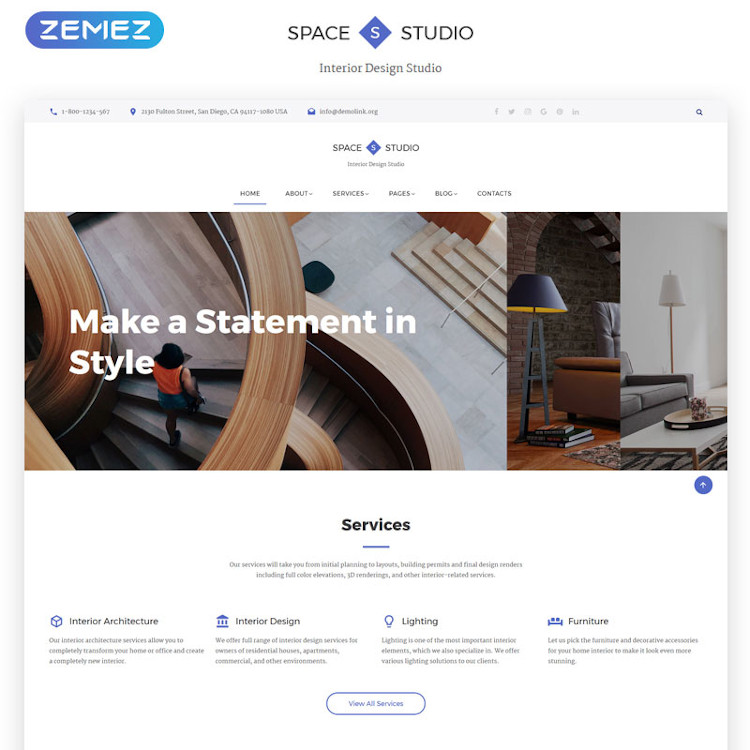 Space Studio Website Template