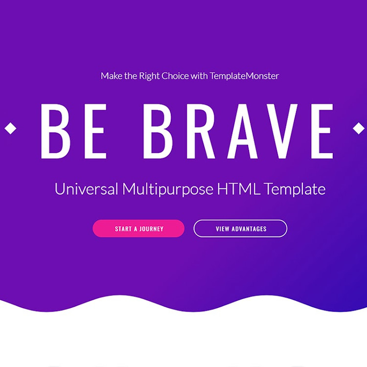 Brave HTML5 website template