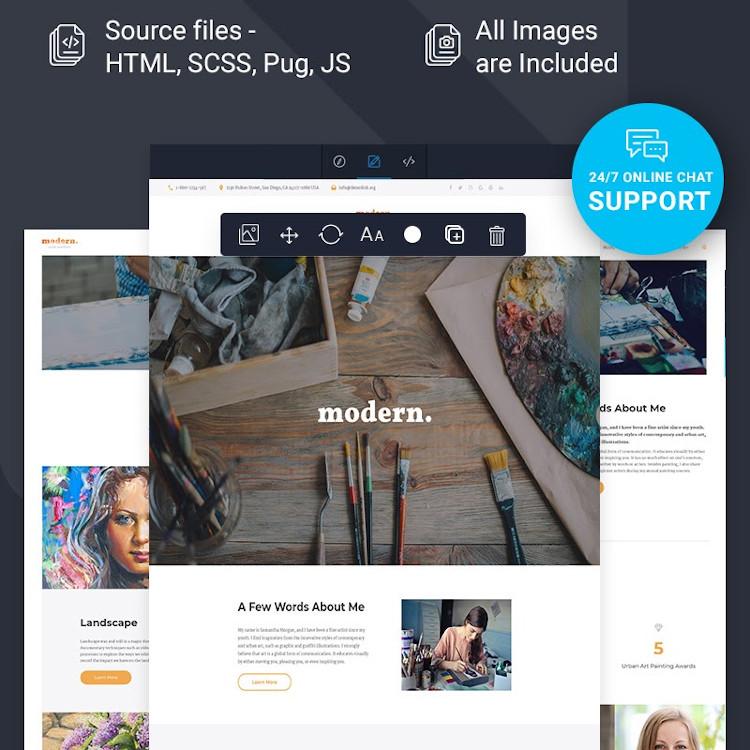Modern HTML5 website template
