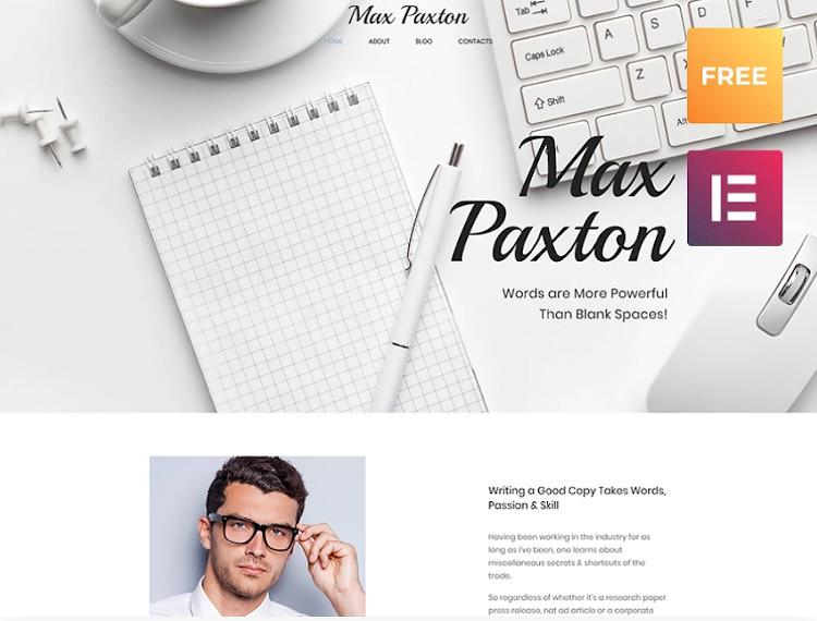 Max Paxton Lite WordPress theme