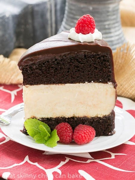 Cheesecake Filled Chocolate Cake