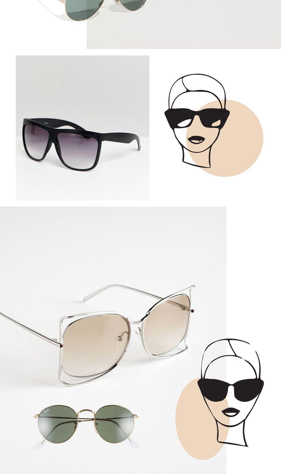 Welches Gesicht passt zu welcher Sonnenbrille