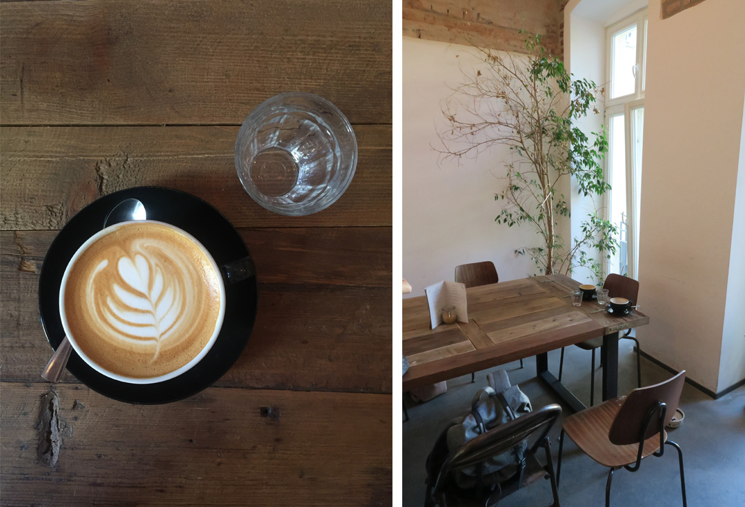 Latte Art im Distrikt Coffee in Berlin