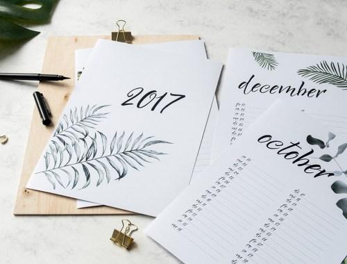 Gut geplant in 2017, Kalender zum freien Download, thatslifeberlin
