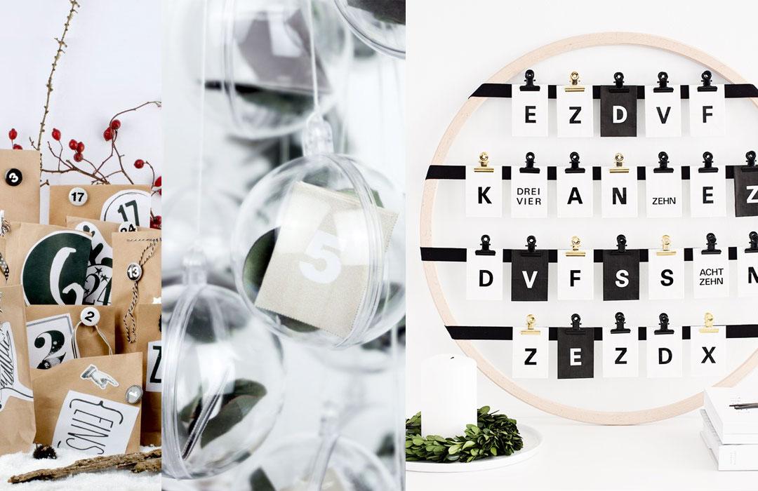 minimalistische Adventskalender zum Selbermachen