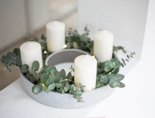 Beton-Adventskranz-DIY