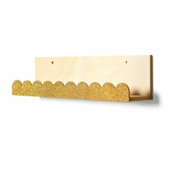 Alba bookshelf glittery gold - Thats Mine