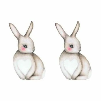Bunny Sally 2 pcs - Wall stories from ThatsMine