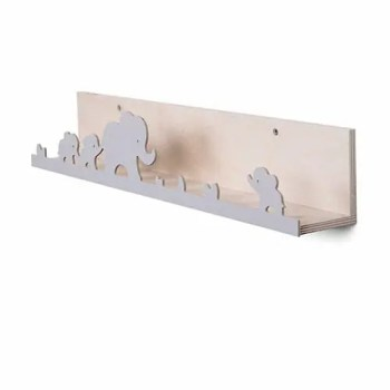 Elephant bookshelf in grey - ThatsMine