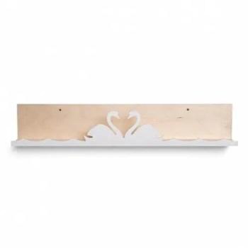 Swan lake bookshelf in white - ThatsMine