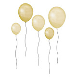 Yellow Balloons - Wall stories from ThatsMine
