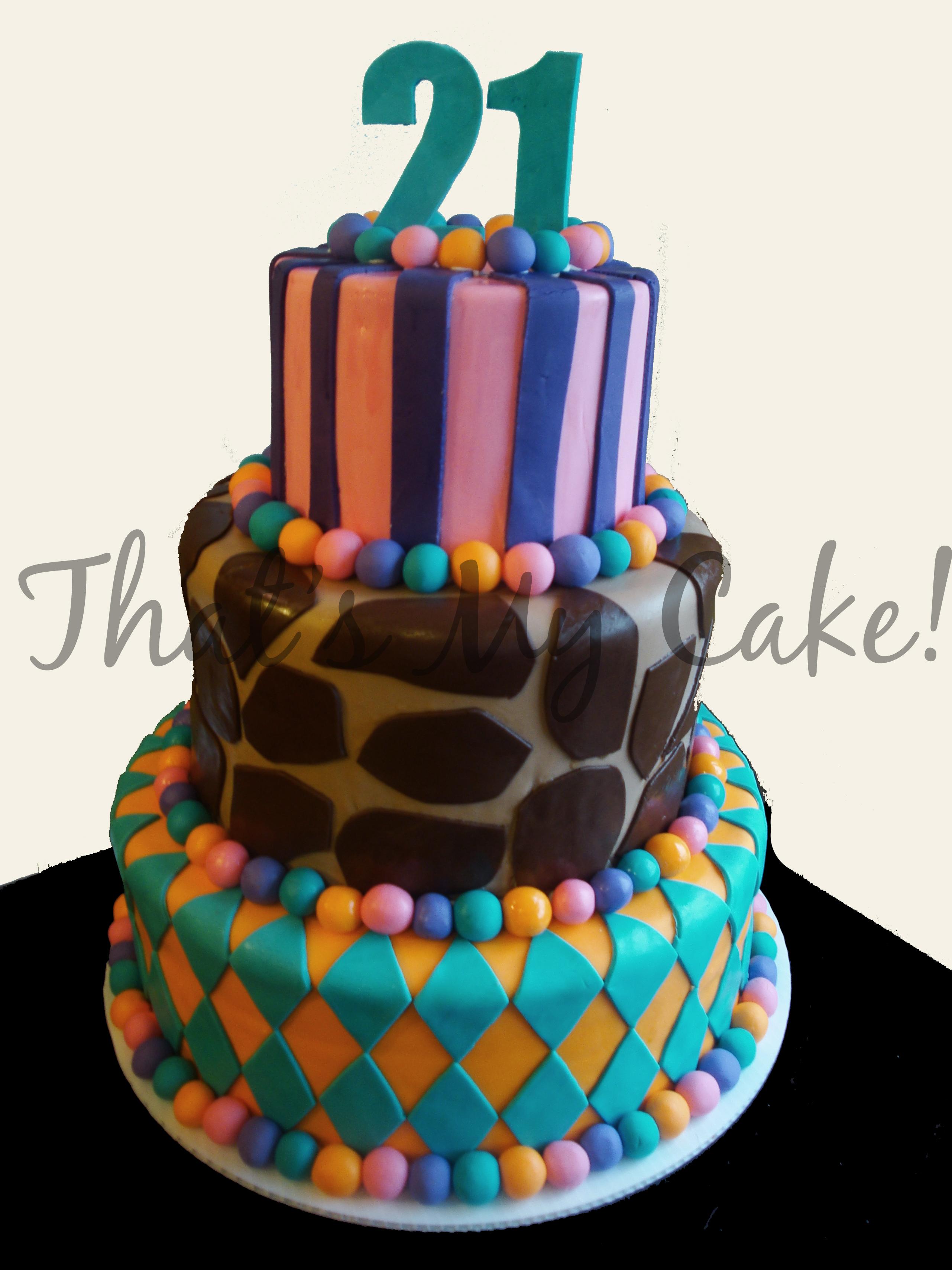 Superb Whimsical 21St Birthday Cake Thats My Cake Personalised Birthday Cards Arneslily Jamesorg