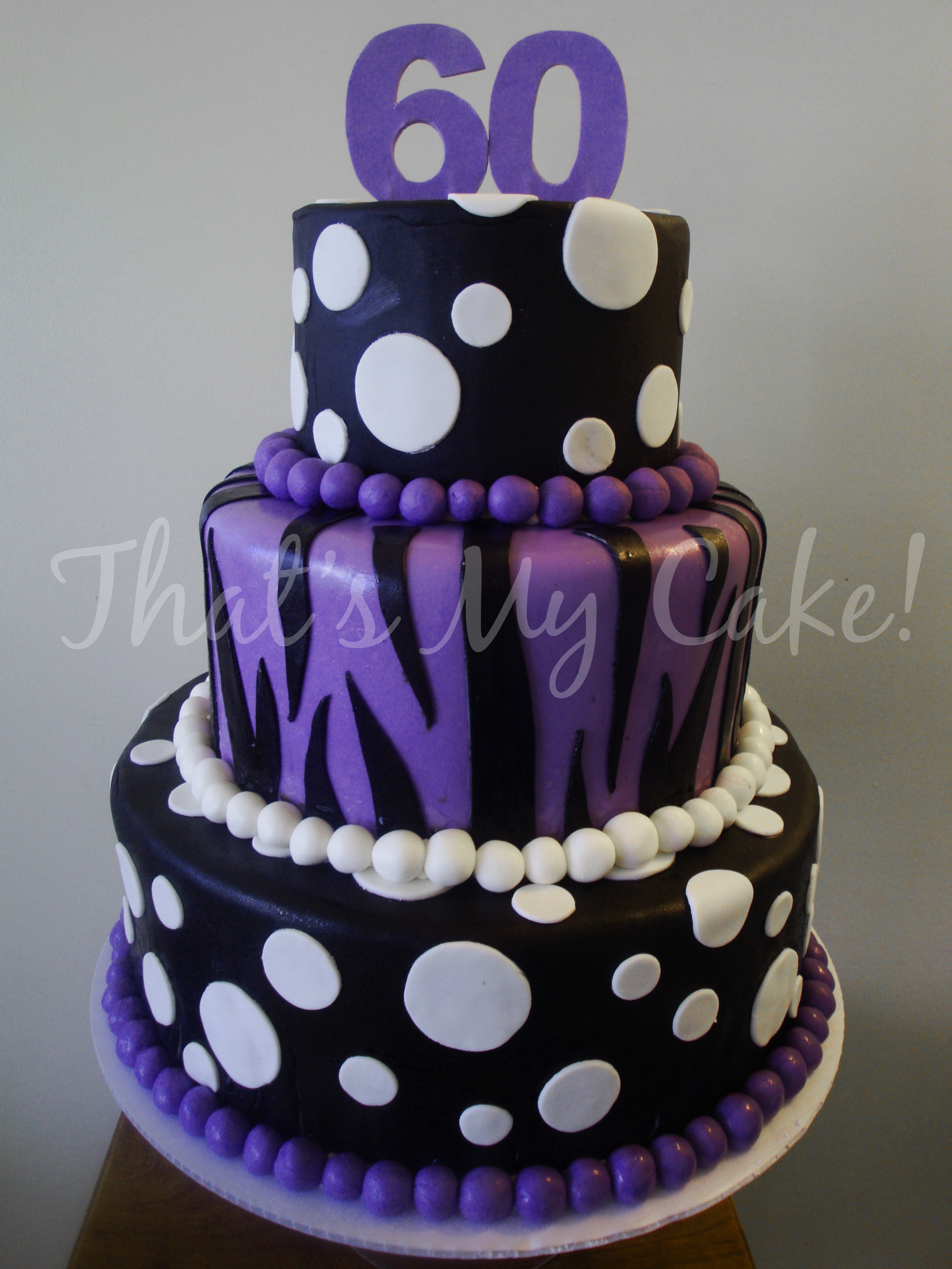 Purple And Black Birthday Cake Thats My Cake