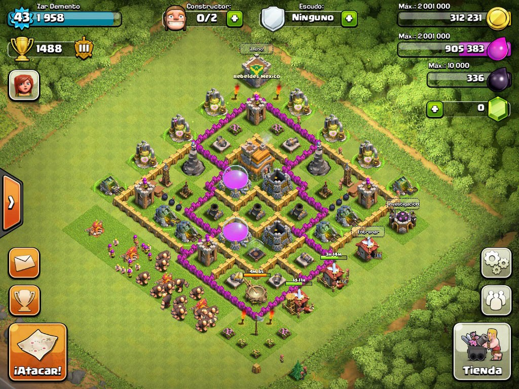 Town Hall 7 Best Defense Base Design 7