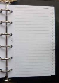 Address Book - Top 10 Things a Backpacker Must Have