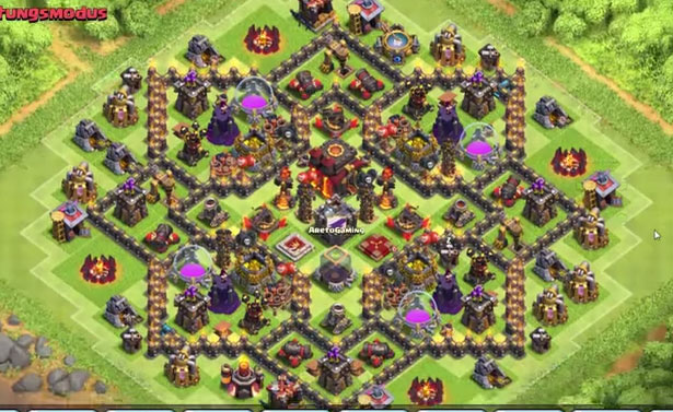 Top 10 Clash of Clans Town Hall Level 10 Defense Base Design