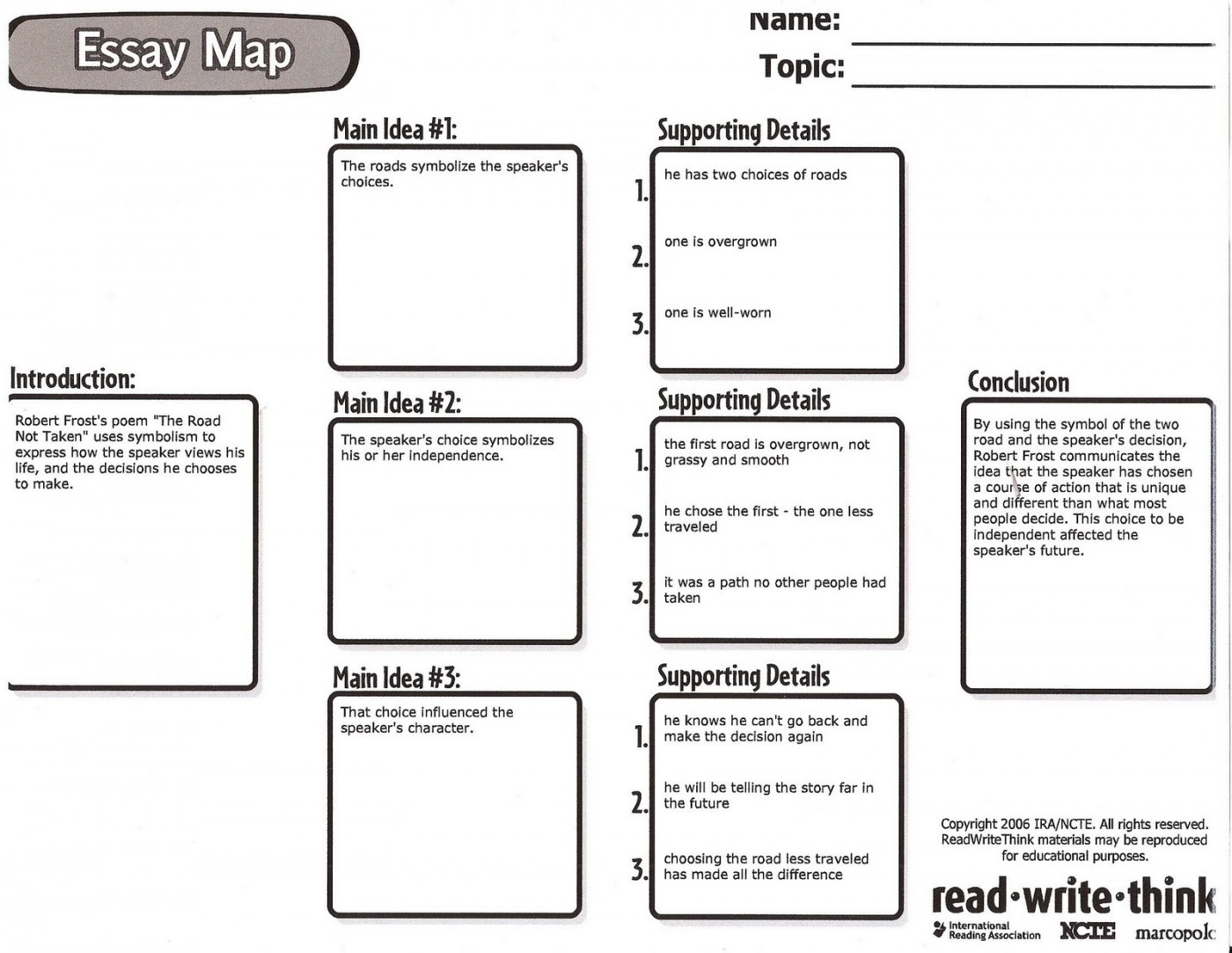 007 Essay Example Map Write Think Writing Mind For On