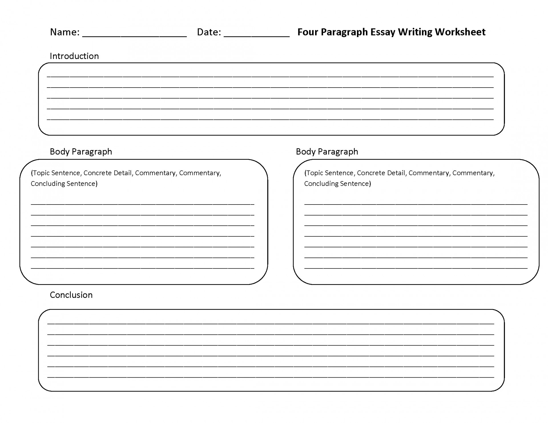 004 Essay Example Writing Worksheets High School Process