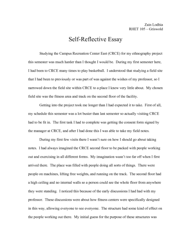 How To Start An Introduction For A Reflective Essay