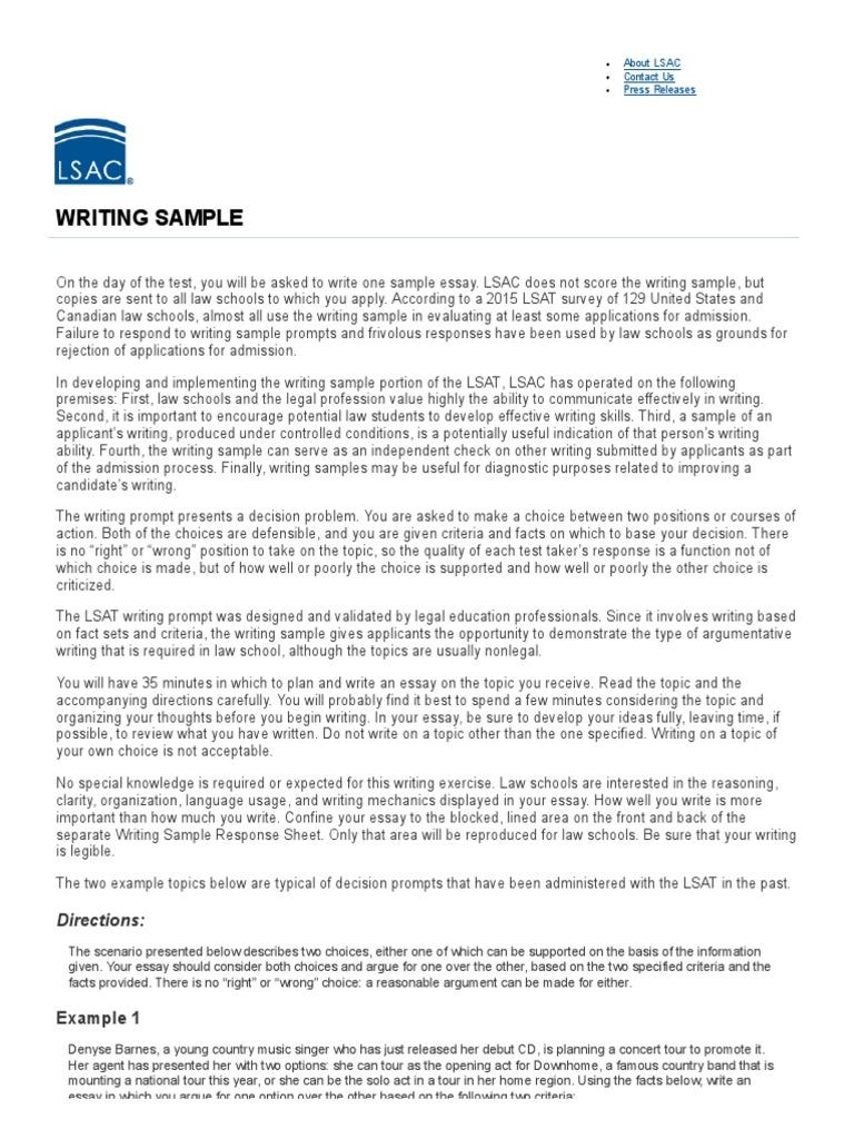 essay writing example free