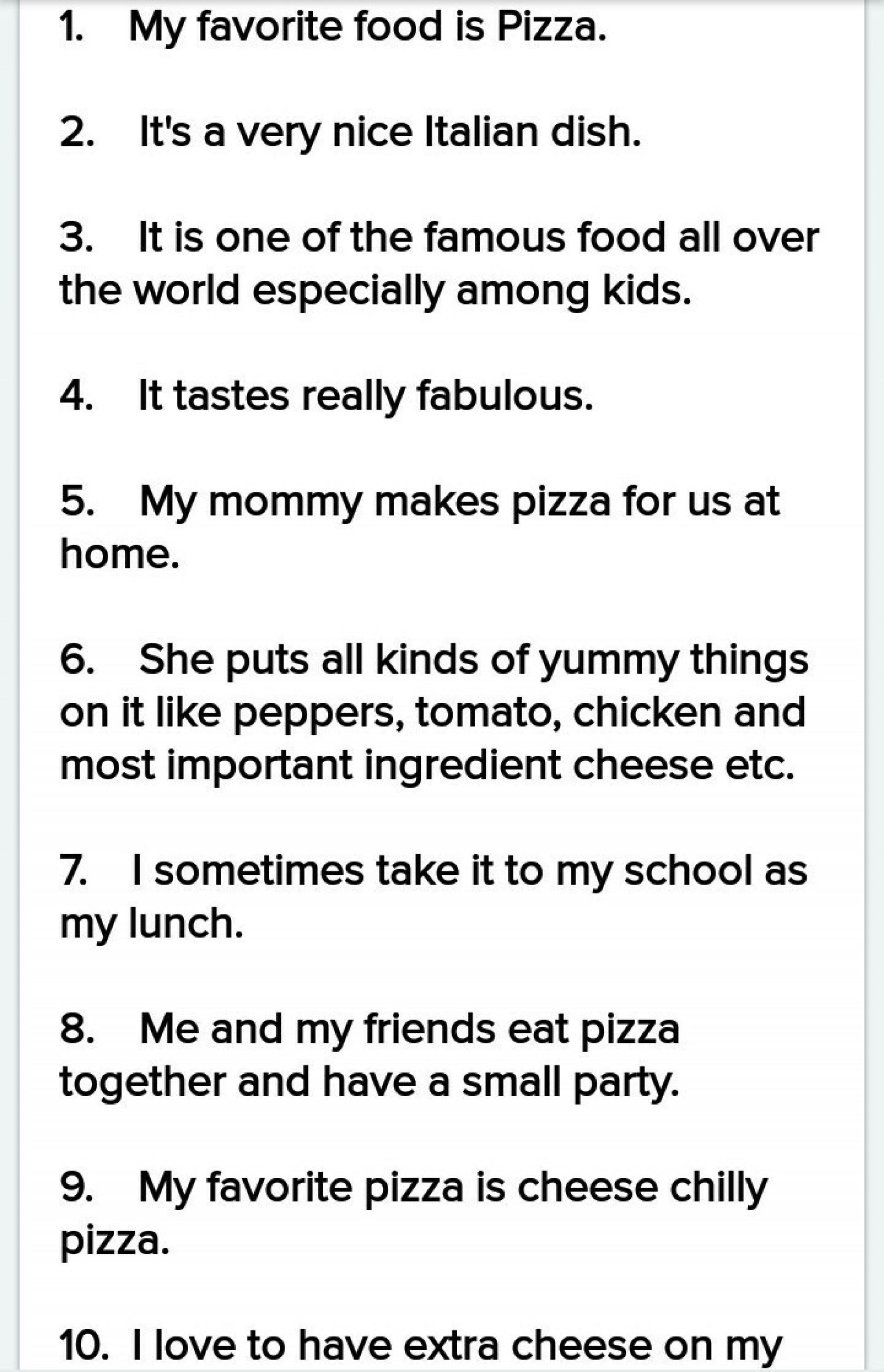 Unforgettable My Favourite Food Essay Thatsnotus