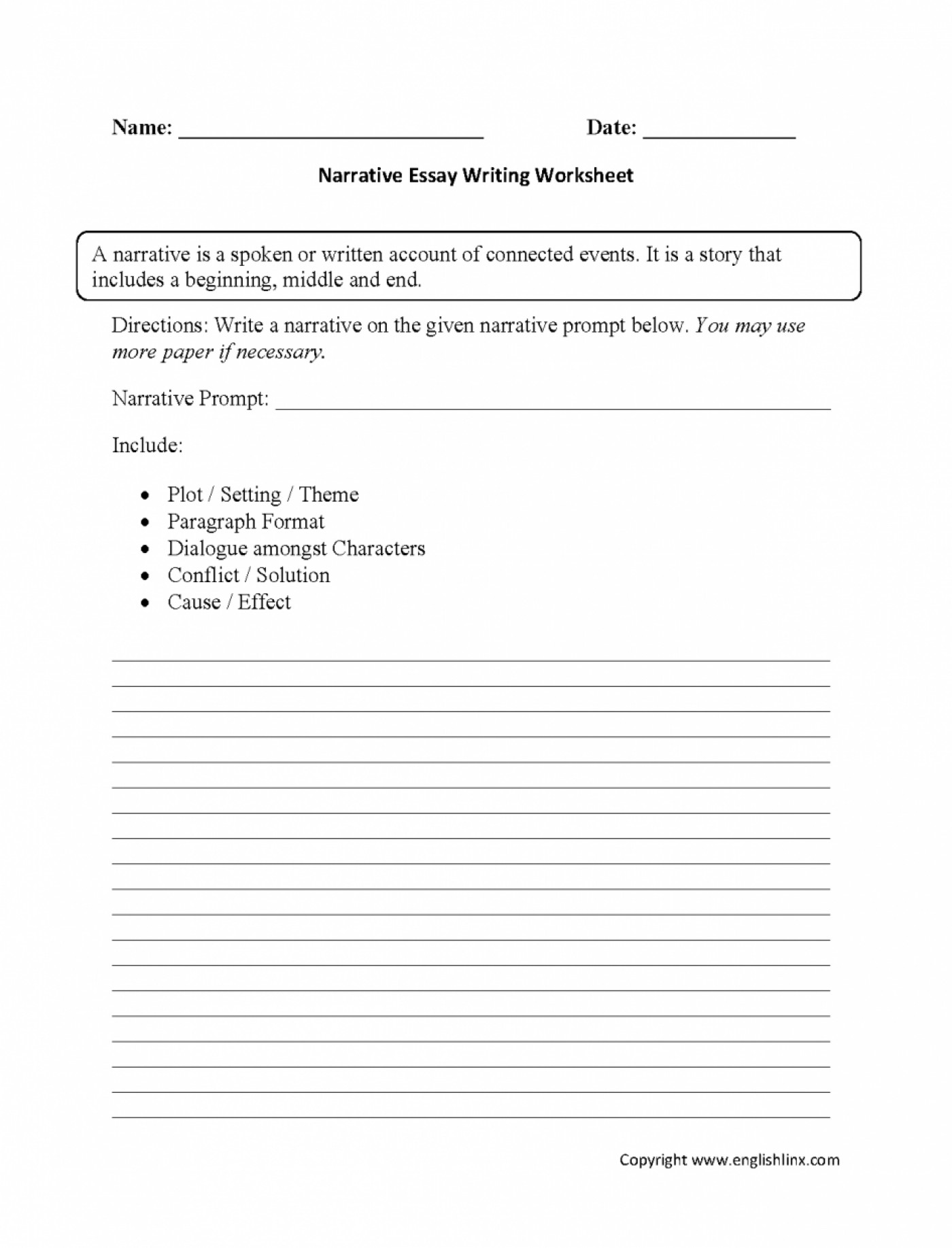 hight resolution of Third Person Narrative Sample Worksheets   Printable Worksheets and  Activities for Teachers