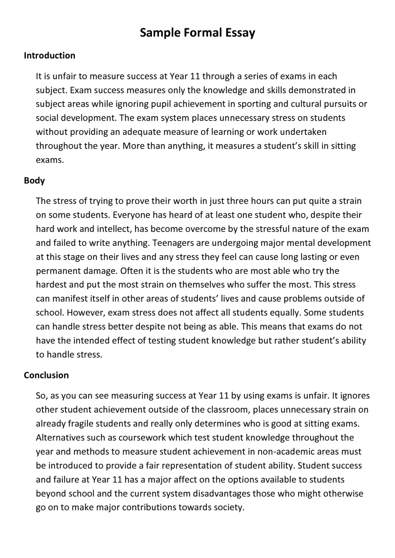 010 Formal Essay Definition Example Informal Outline