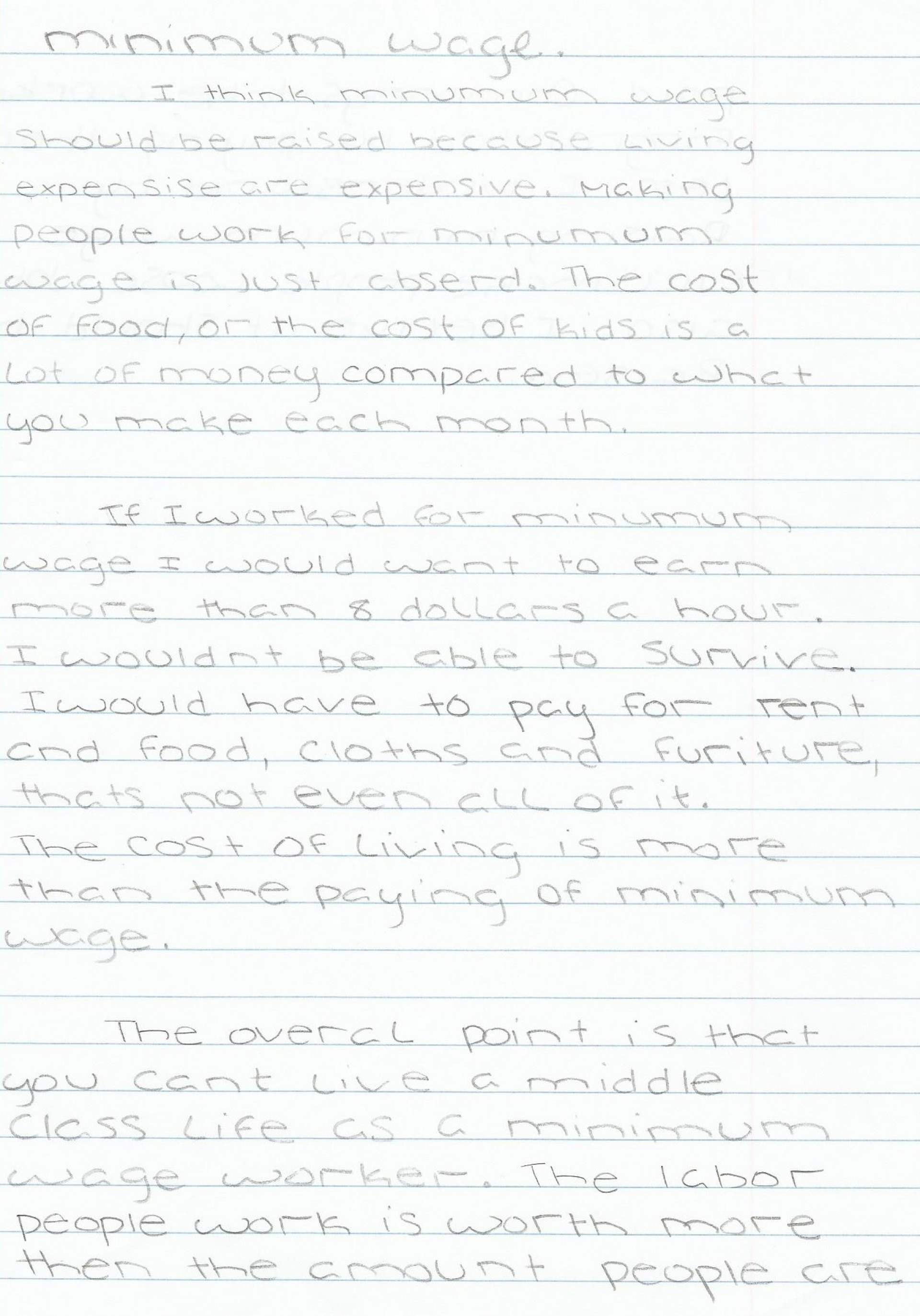 013 Minimum Wage Essay ~ Thatsnotus