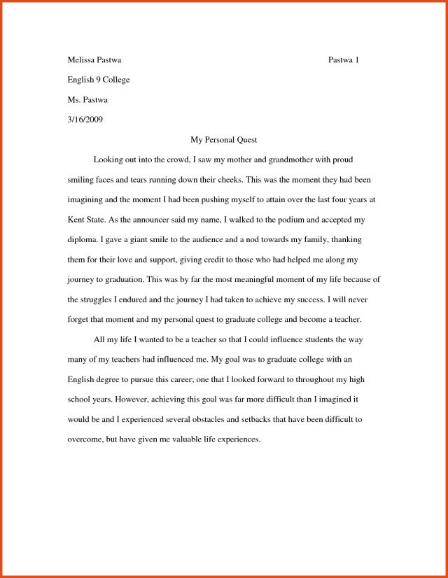 essay writing format for high school students  applydocoumentco  high school students sample  why did you choose this college essay  sample example in pdf epic
