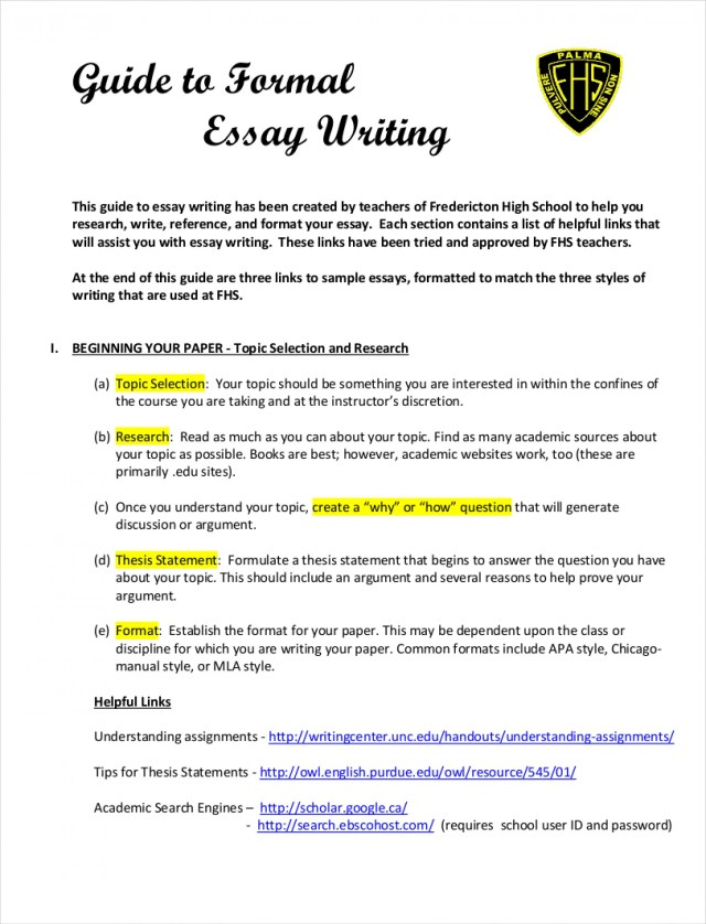 english essay writing sample pdf  applydocoumentco  essay example samples of formal essays free pdf format