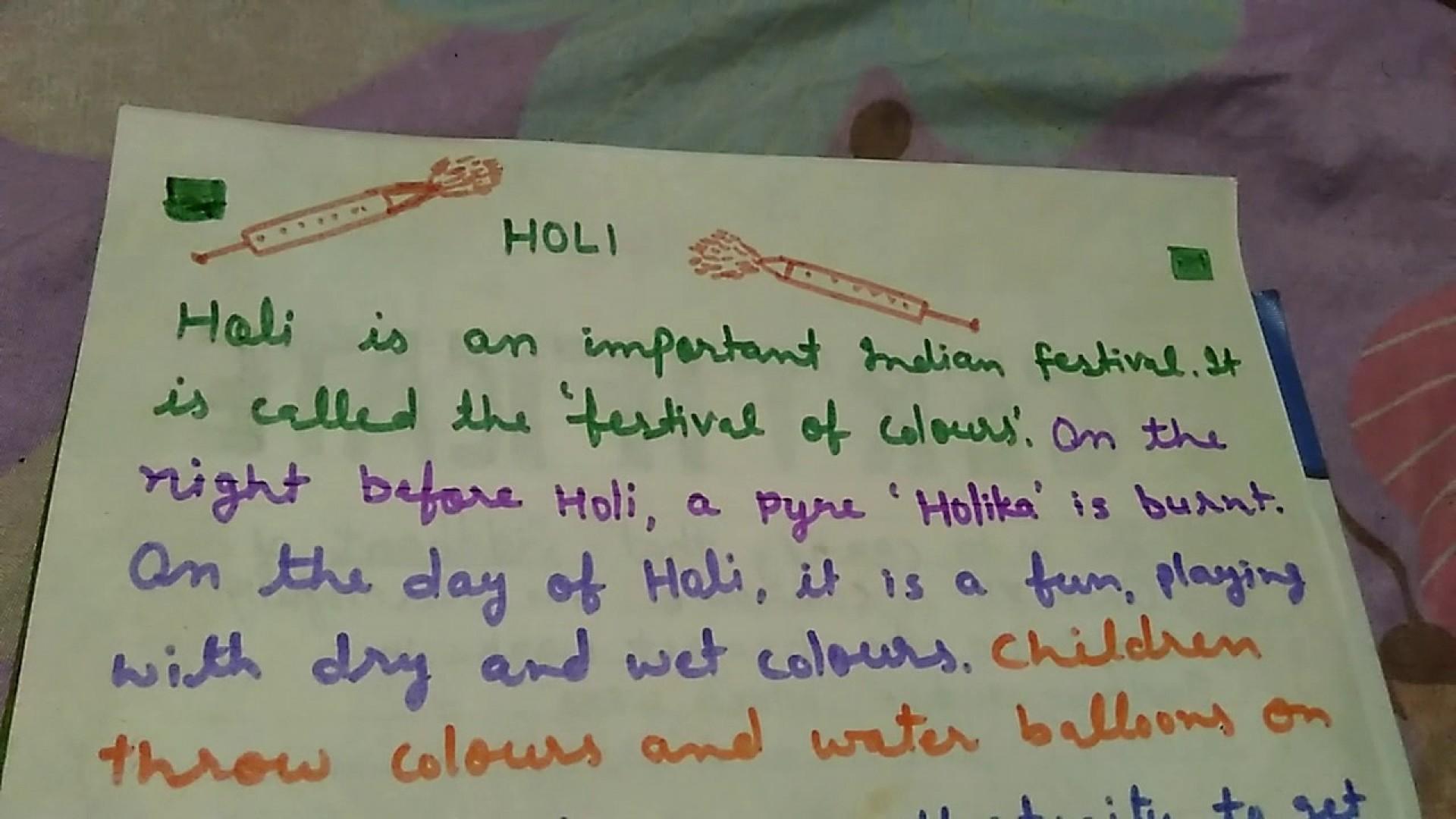 Breathtaking Holi Essay In English Thatsnotus