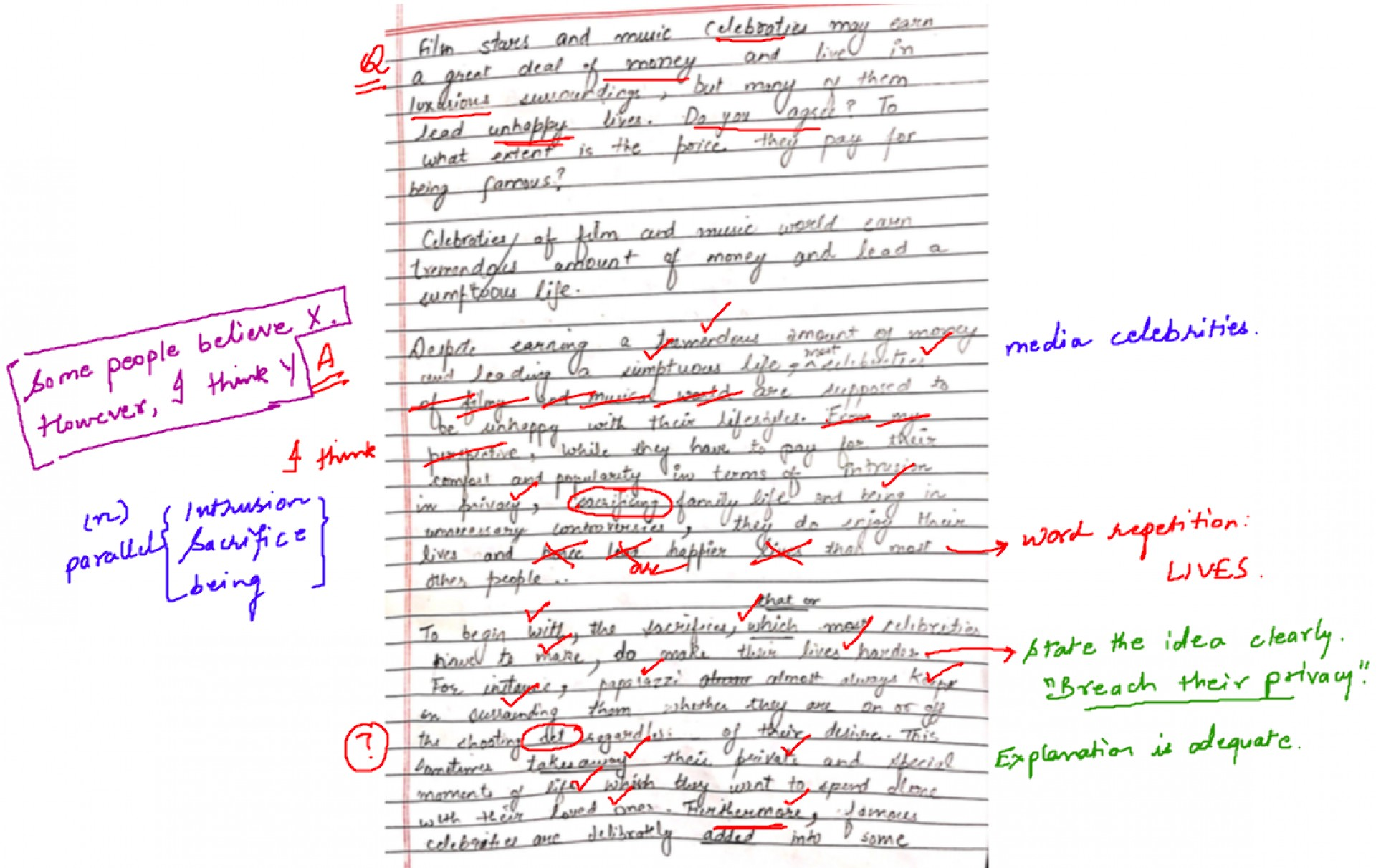 001 Essay Example Correcting Essays Compucenter Ancient