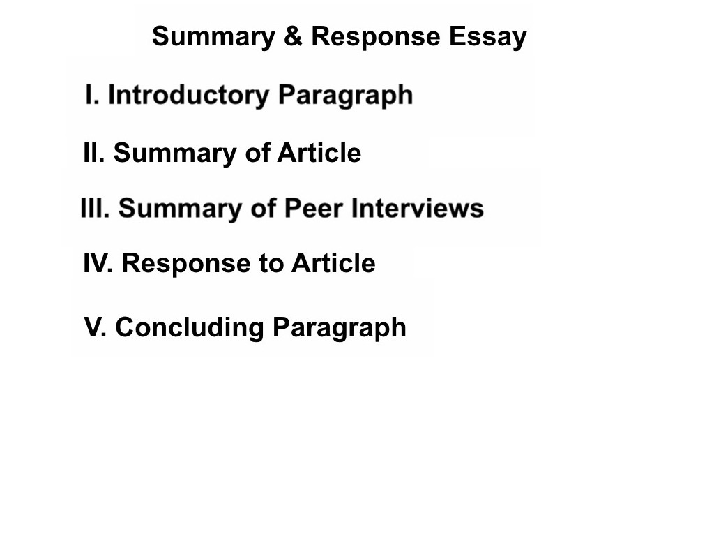 Stupendous Summary And Response Essay ~ Thatsnotus