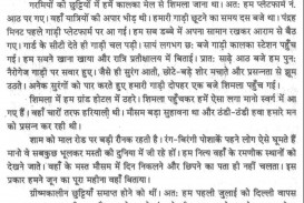 How I Spent My Summer Vacation Essay For Class 2 In Hindi