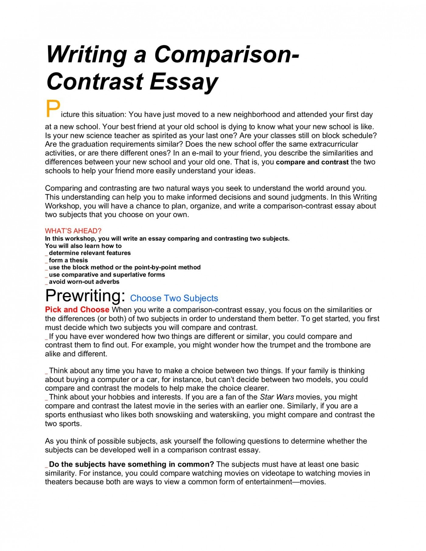003 Comparison And Contrast Essayss Essay Ideas Maus Compare Thatsnotus