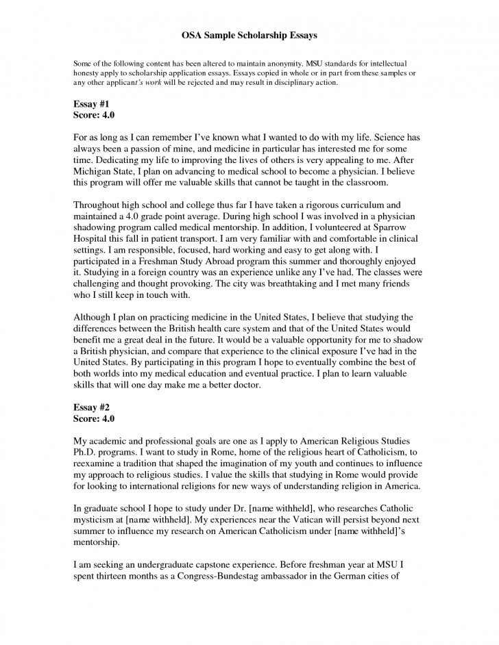 good essays for scholarships examples  brandforesightco  essay example scholarships for high school students scholarship
