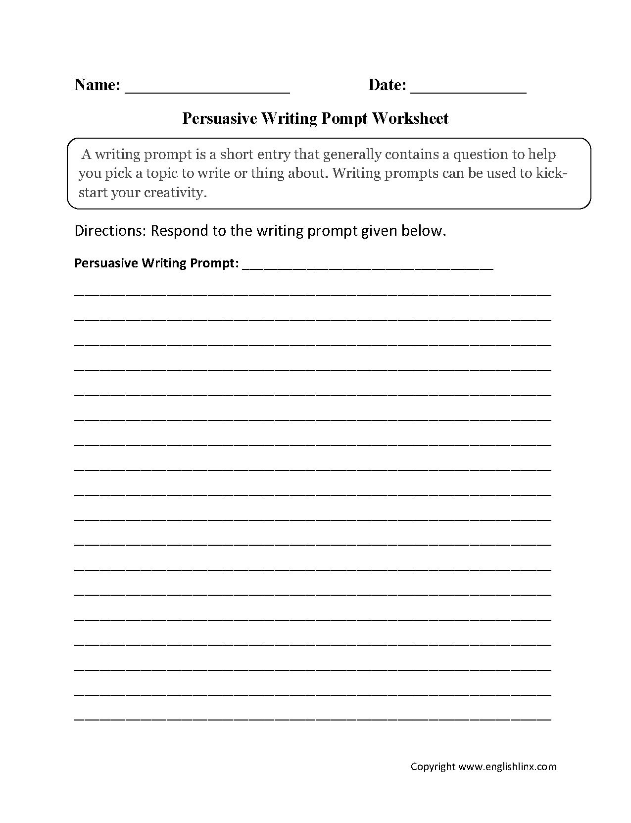 012 Persuasive Essay Prompts Informational Compare