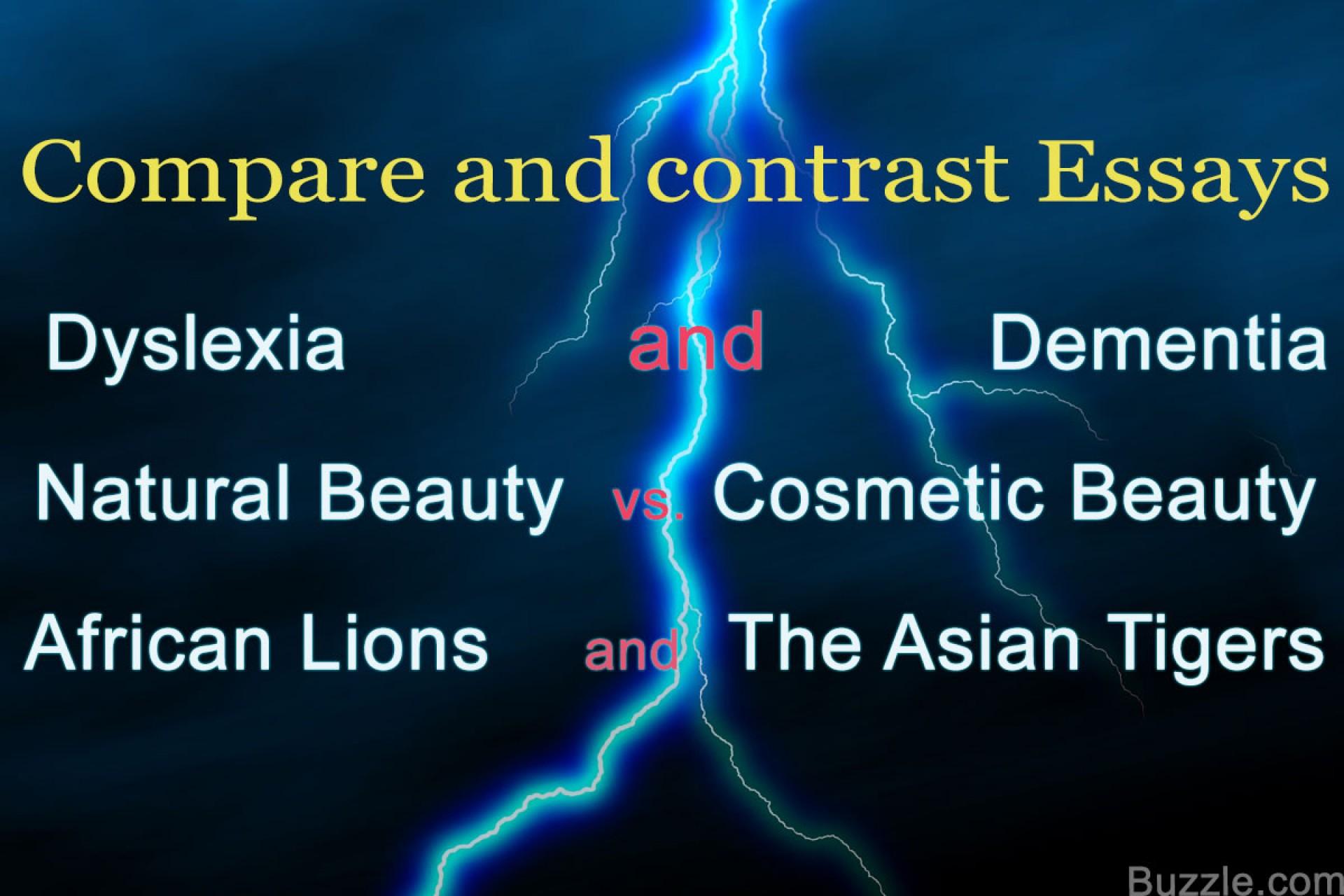 018 Comparison Contrast Essay Topics Quiz Worksheet