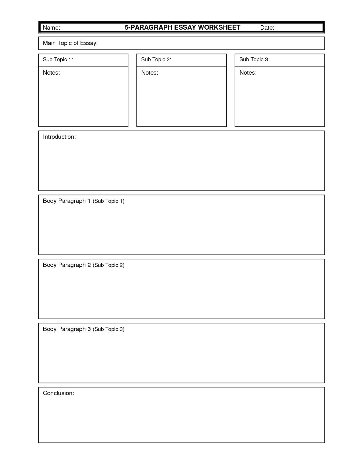 020 Essay Example Writing Worksheets Thatsnotus