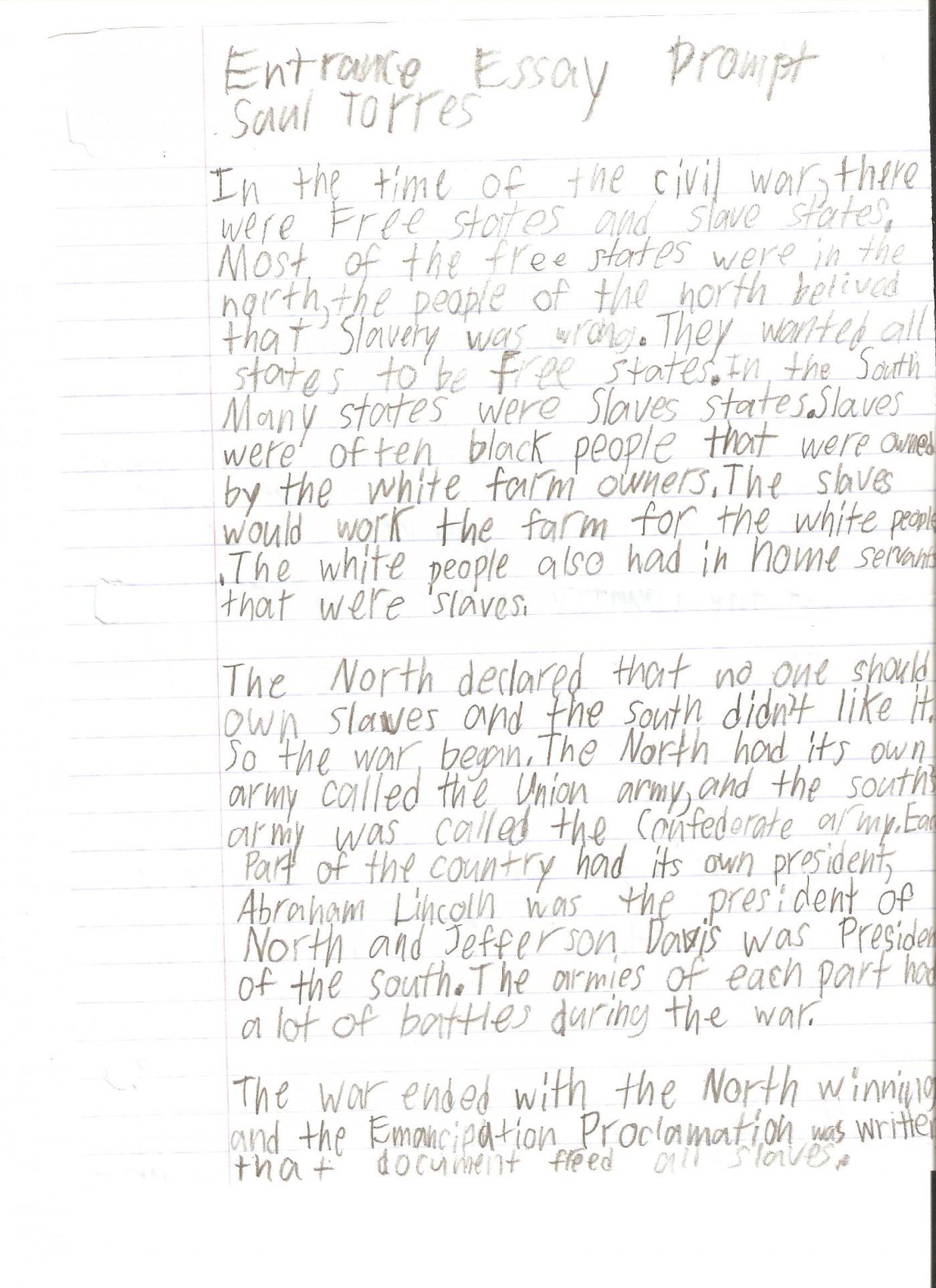 020 Essay Example 6th Grade ~ Thatsnotus