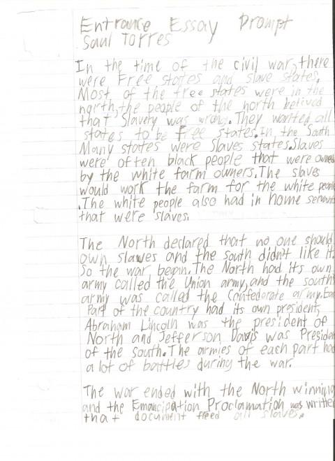 006 6th Grade Essay Example ~ Thatsnotus