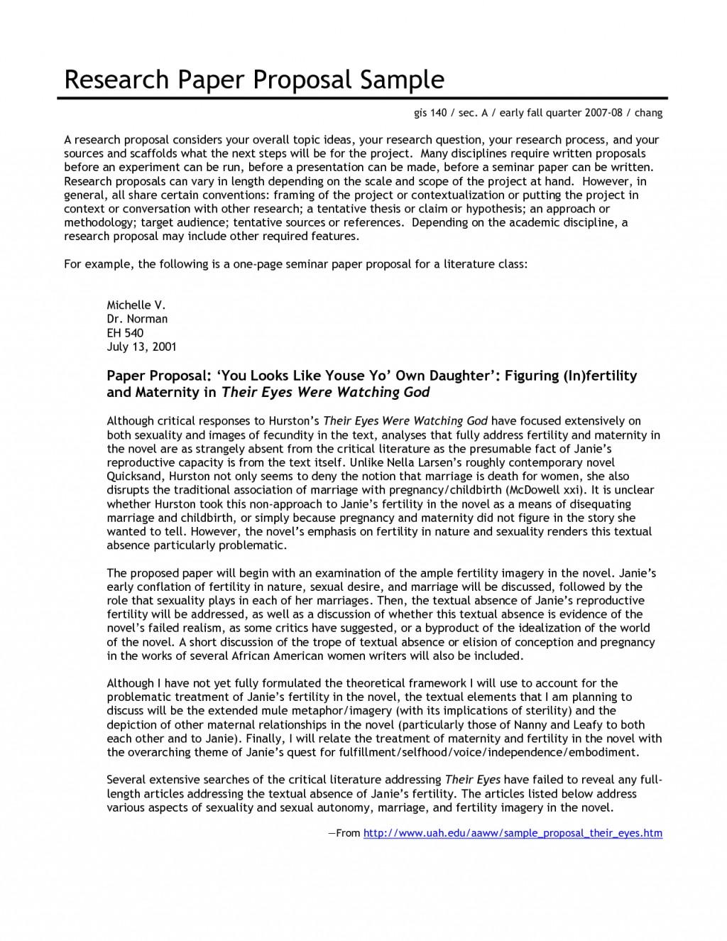 Excellent Proposal Essay Example  Thatsnotus